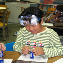 Fourth Graders Study Optical Properties of Solids