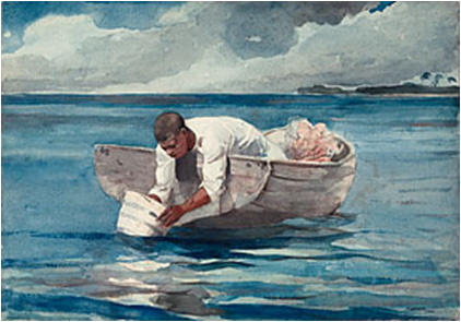 Image of Winslow Homer's The Water Fan  courtesy of the Art Institute of Chicago.