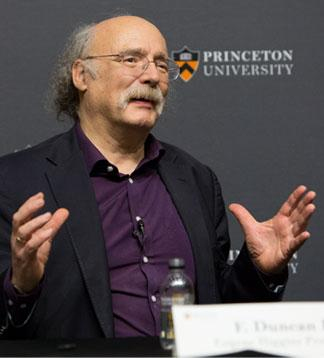 Princeton University professor F. Duncan Haldane recently received the 2016 Nobel Prize in Physics for his research in topological materials. Photo Credit: Denise Applewhite, Princeton Office of Communications